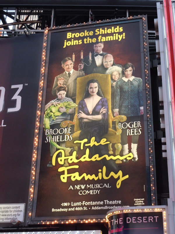Brooke Shields Addams Family billboard