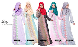 LILY MOTIF JUBAH DRESS SOLD OUT