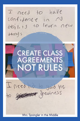 Looking for the best way to create classroom rules with your middle school classes?  See what's worked for me through 25 years of teaching. #behaviormanagement  #ideas