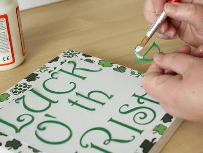 Mod Podge letters cut with a cricut machine