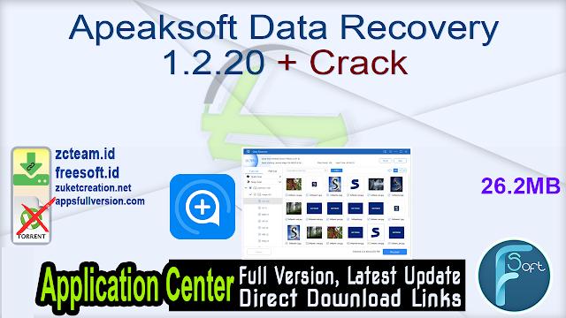Apeaksoft Data Recovery 1.2.20 + Crack_ ZcTeam.id