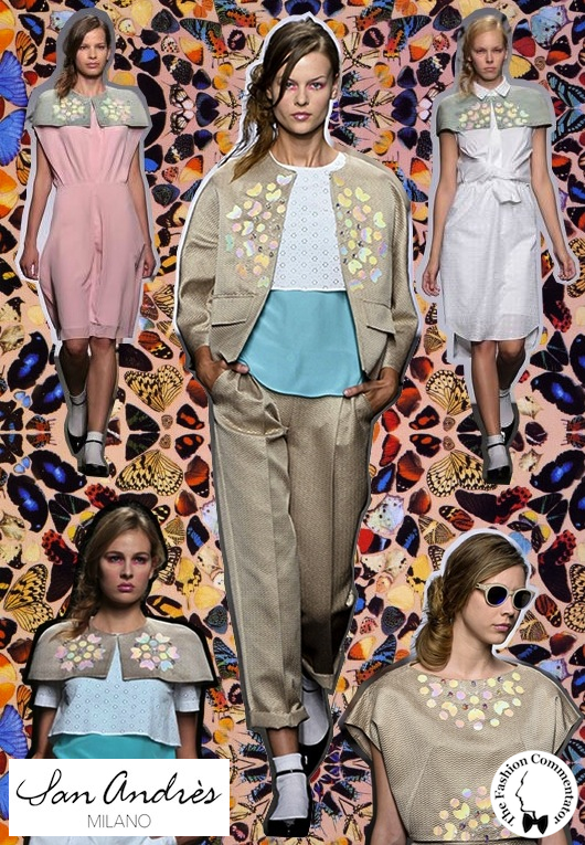 San Andrès Milano SS 2014 - Damien Hirst butterflies inspiration
