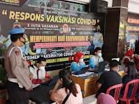 Dukung Program Presiden Jokowi 1 Juta Vaksinasi 1 Hari, Polres Lumajang Gelar Vaksinasi Covid-19 Secara Massal