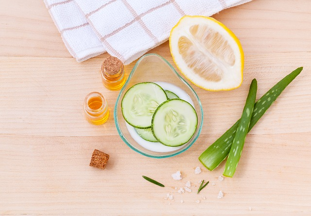 skincare with natural plant
