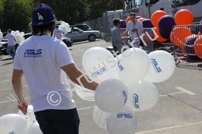 Печать логотипа на воздушных шарах ASUS