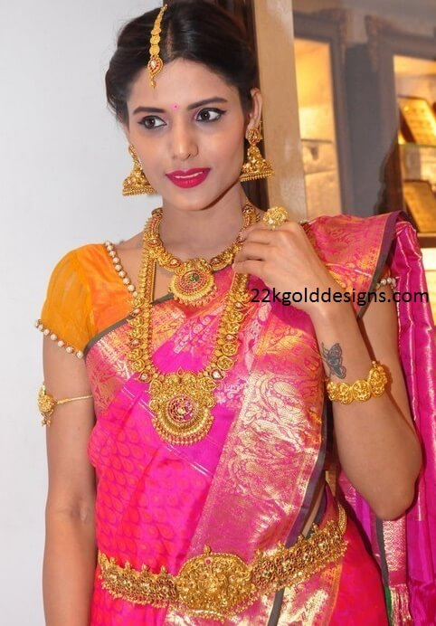 Model in Temple Gold Jewelry