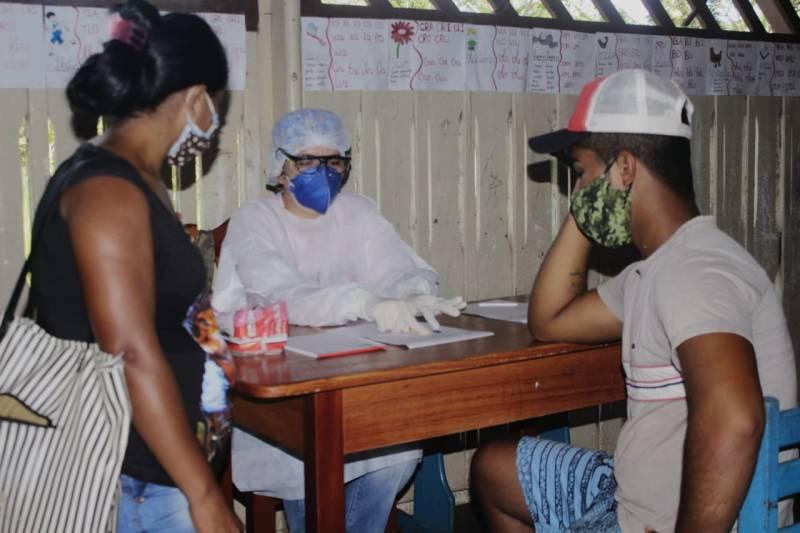 Testes para covid-19 na região do Tapajós dão positivo em quase 80% dos ribeirinhos
