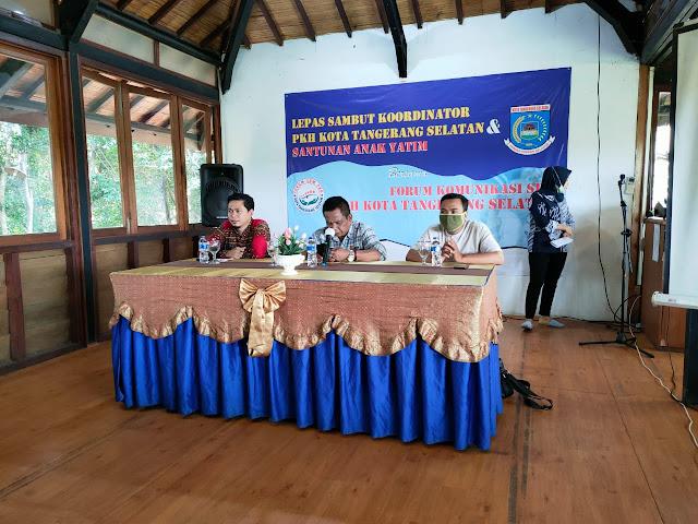Lepas-sambut Koordinator PKH dan santunan anak yatim di Tangsel
