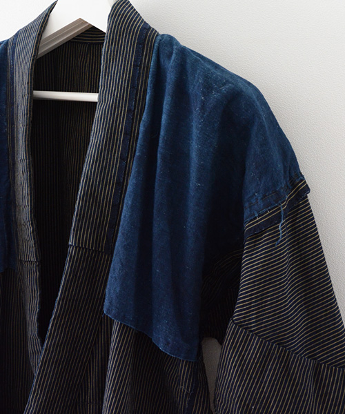 野良着 FUNS 藍染 襤褸 刺し子 ジャパンヴィンテージ アンティーク着物 Noragi Coat Indigo Dyed Boro Sashiko Japanese Vintage 20~30s