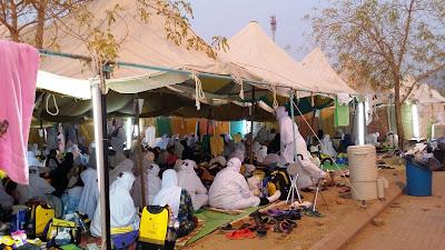 suasana jemaah haji di Arafah