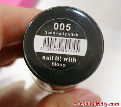 bloop Sandy Nail Polish, product review, nail colour, nail care