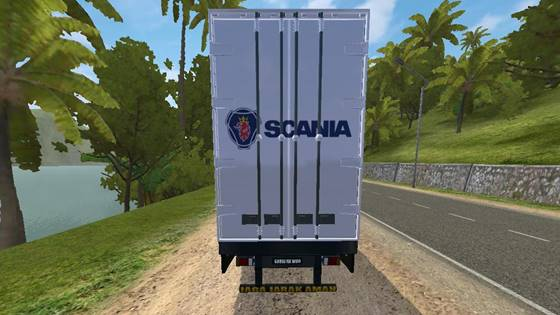 mod bussid scania container