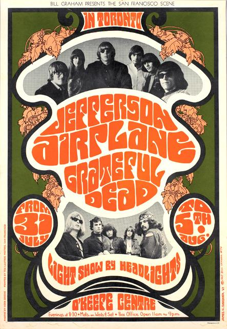 """As 1967's """"Summer Of Love"""" was ending, Bill Graham took the Jefferson Airplane and The Grateful Dead to Toronto and the East Coast."""