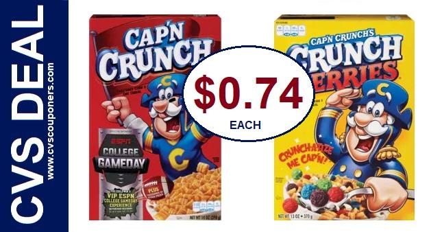 Cheap Cap'n Crunch Cereal CVS Deals