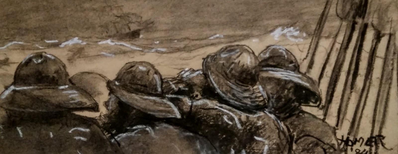 Fisherman Breton In Apron Claude Bils Watercolour