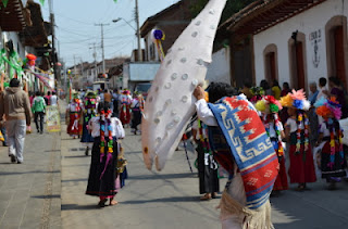 Dances during the Celebration of the Green Cross in Patzcuaro