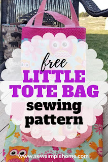 Use this free fabric tote bag tutorial to sew a small scripture tote, book bag or little purse for your child.