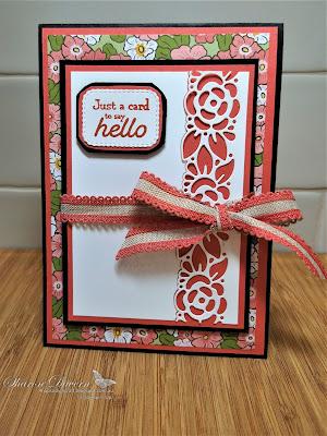 Rhapsody in craft, Terracotta Tile, Ornate Garden, DSP, Ornate Border Dies, Many Messages, Messages Dies, Friendship Card, Stampin' Up, #colourcreationsshowcase, #loveitchopit