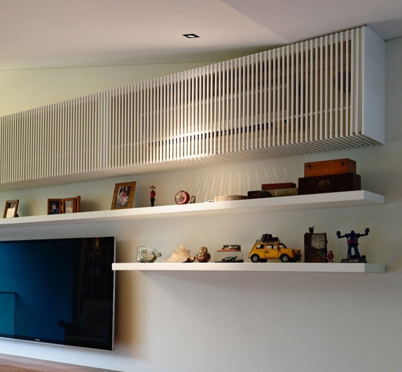 como esconder o ar condicionado decora o e inven o. Black Bedroom Furniture Sets. Home Design Ideas