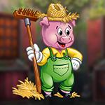 PG Domestic Farm Pig Escape