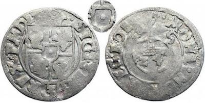 Półtorak 1615 bez  Snopka - herbu Wazów