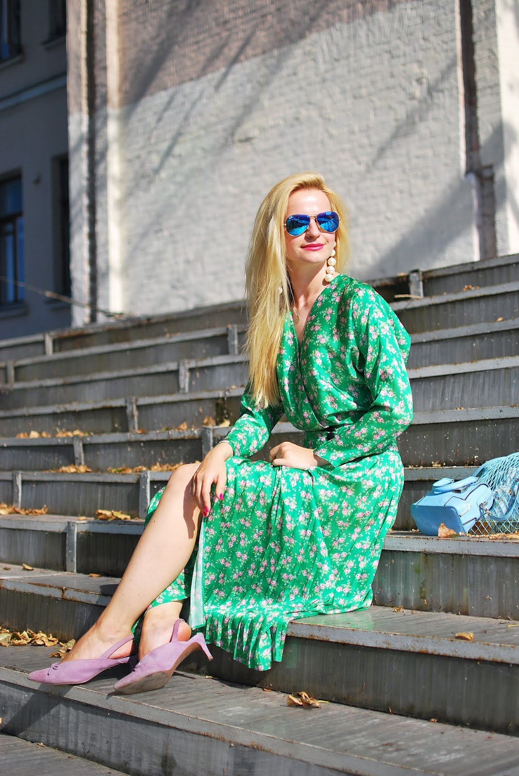 vintage green dress bright chic style asos