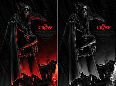 The Crow Movie Poster Screen Print by Matt Ryan Tobin x Mondo
