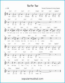 chord tea for two lagu jazz standar