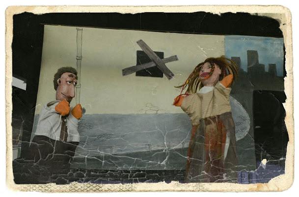 Marionetas en el espectáculo Corre, Lío, corre