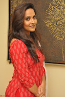 Anusuya in Red at Kalamandir Foundation 7th anniversary Celebrations ~  Actress Galleries 028.JPG