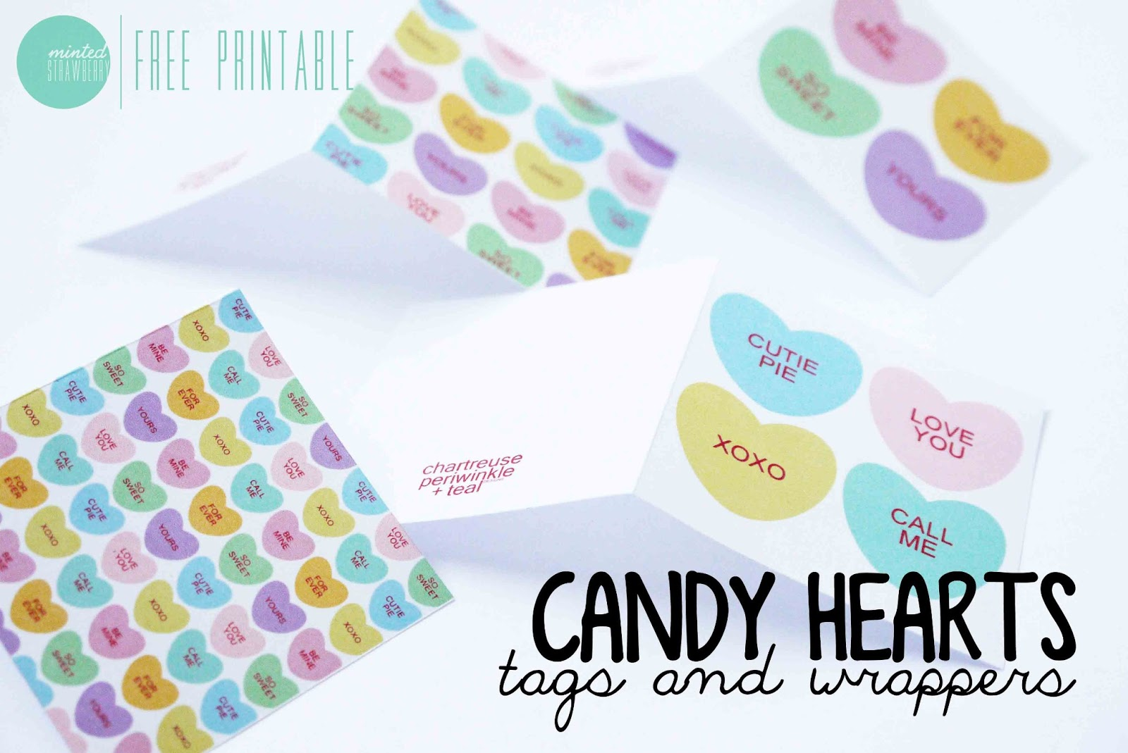 Free Printable Candy Heart T Wraps Amp Tags