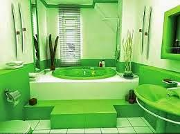 decorar baño verde