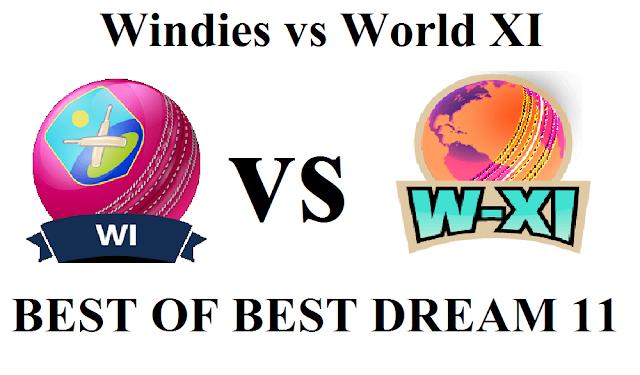 windies vs world xi match