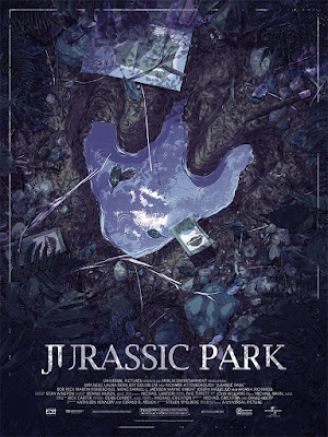 Jurassic Park Movie Poster Screen Print by Matthew Woodson x Mondo