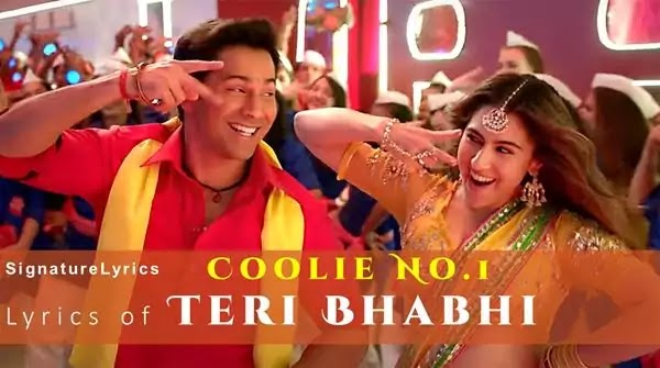Teri Bhabhi Lyrics - Coolie No.1 (2020 film)