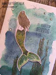 Magical Mermaid Card by Stampin' Up! Learn how to use the Magical Mermaid stamp set by Stampin' Up!