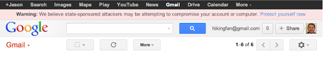 Google Warning about New State Sponsored Attacks