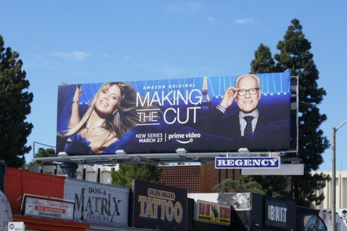 Making the Cut series premiere billboard