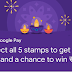 Google Pay Collect 5 stamps Win Rs.1 lakh and assured scratch cards