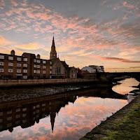 Dublin pictures: Sunrise over the Dodder River
