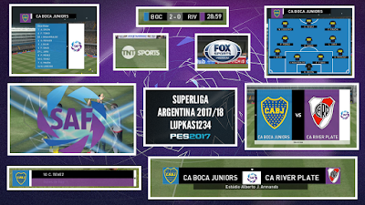 PES 2017 Scoreboard Superliga Argentina by Lupkas1234