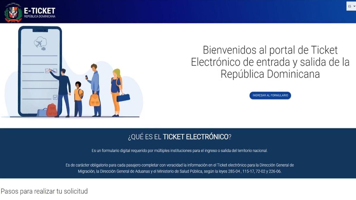 REPÚBLICA DOMINICANA FORMULARIO ELECTRÓNICO TURISTAS 03