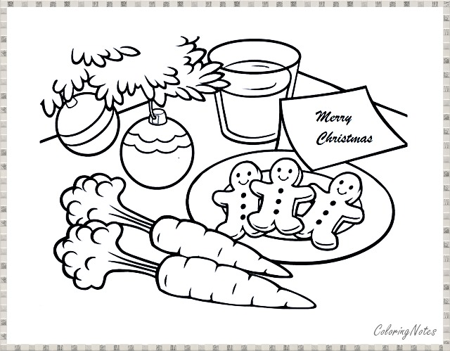 Christmas Cookie Coloring Pages Novocom Top