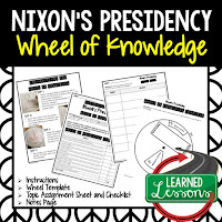 President Nixon, Progressive Era, American History Activity, American History Interactive Notebook, American History Wheel of Knowledge