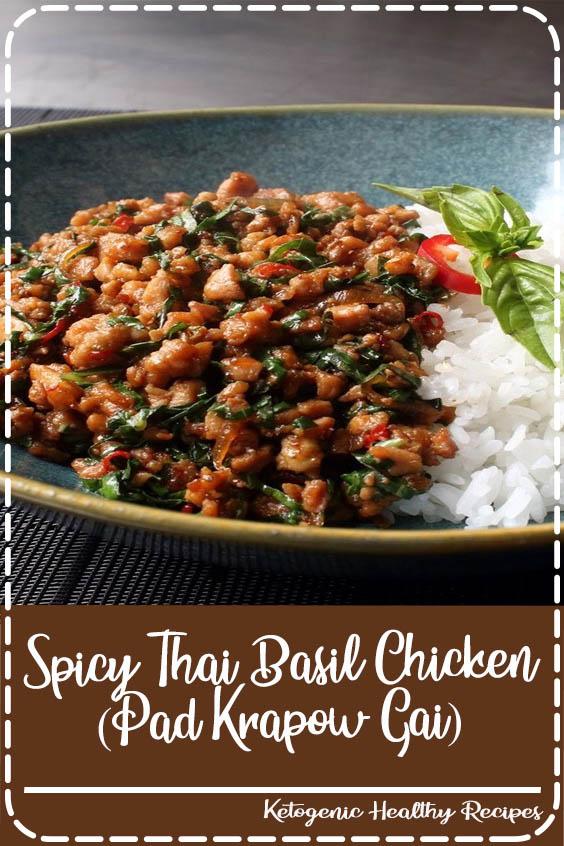 My version of this classic Thai dish has spectacular taste even with regular bakteri instea Spicy Thai Basil Chicken (Pad Krapow Gai)