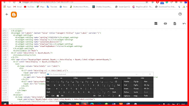 Now past the code into the HTML edit section that you copied