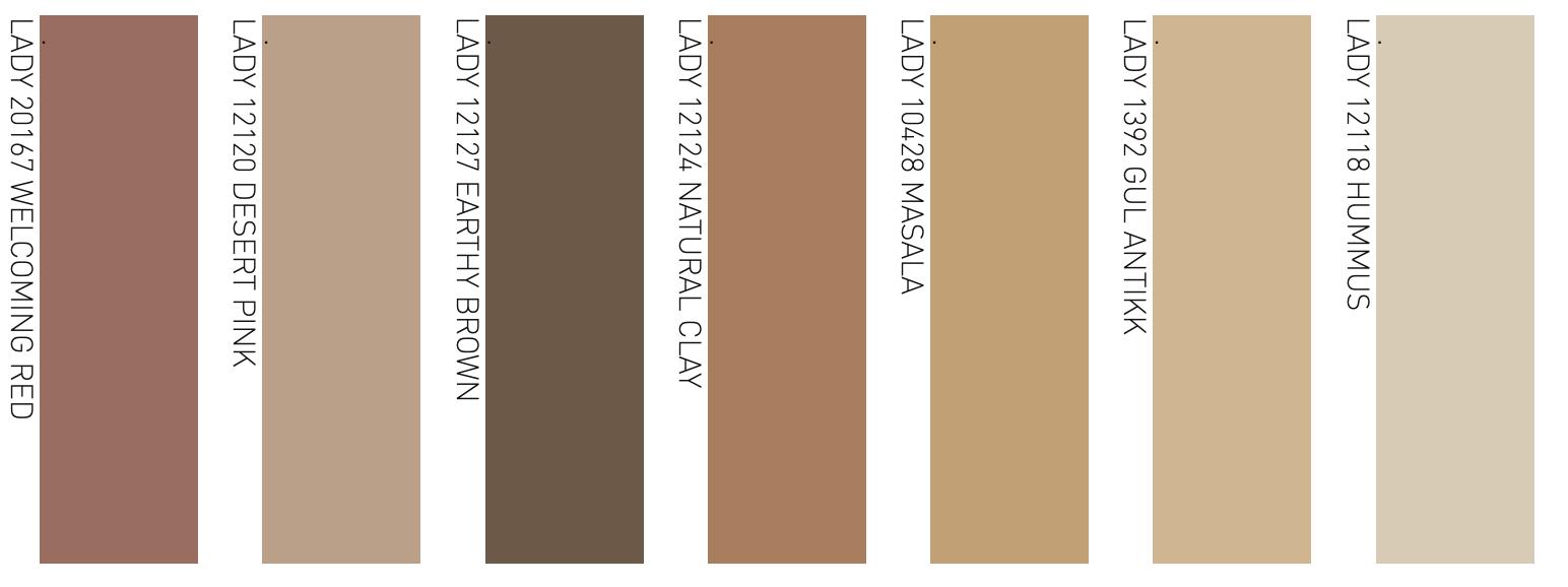 palette colori caldi