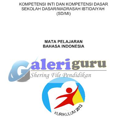 KI Dan KD Kelas 3 Kurikulum 2013 Tahun 2018 Mapel Bahasa Indonesia