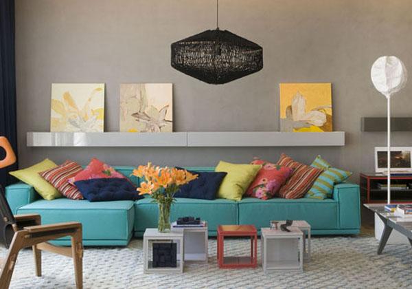 Sala De Tv Com Almofadas Coloridas ~ terçafeira, 5 de abril de 2016