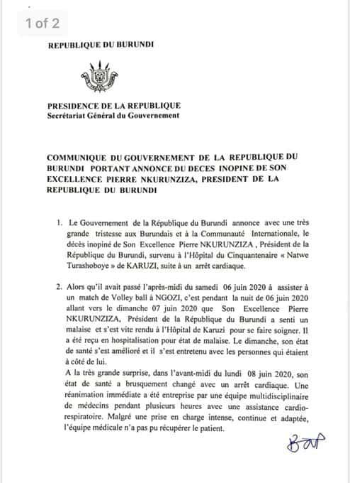 وفاة-رئيس-بوروندي-بنبوة-قلبية/